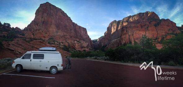 Outside of Kolob Canyon.